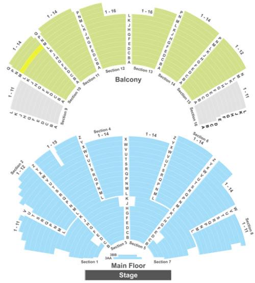 Ryman Auditorium Seating Chart
